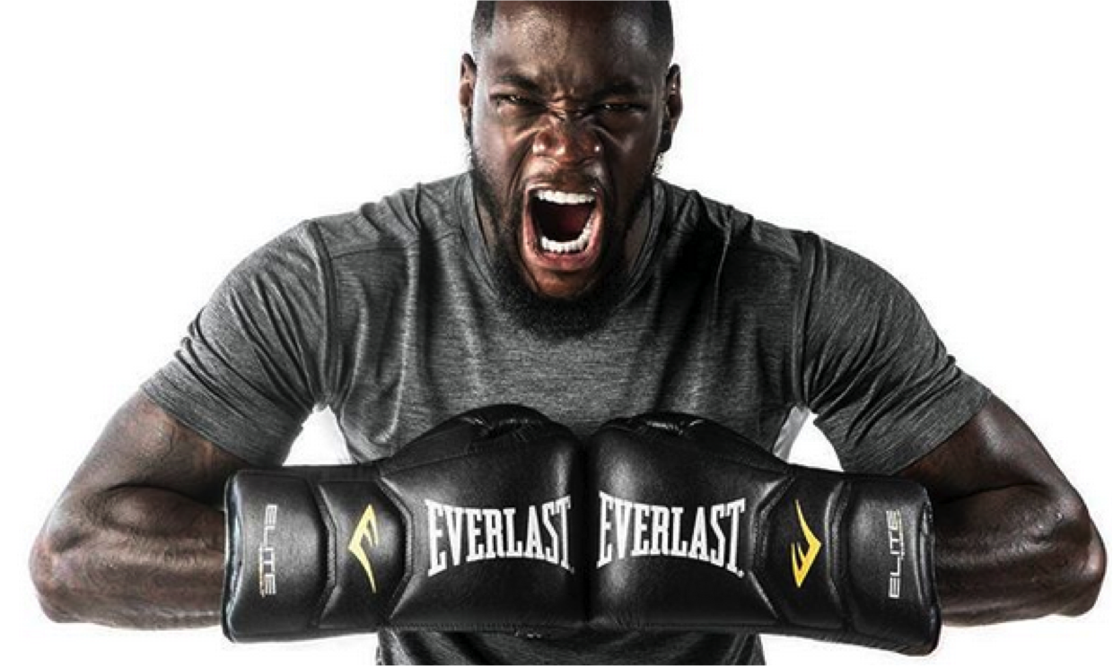 Deontay Wilder Using the Everlast Elite Boxing Gloves